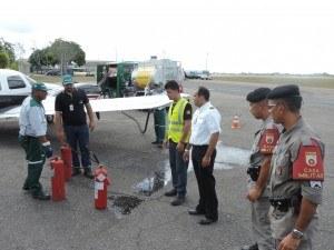Casa Militar participa de Simulação de Acidente em Abastecimento de Aeronave