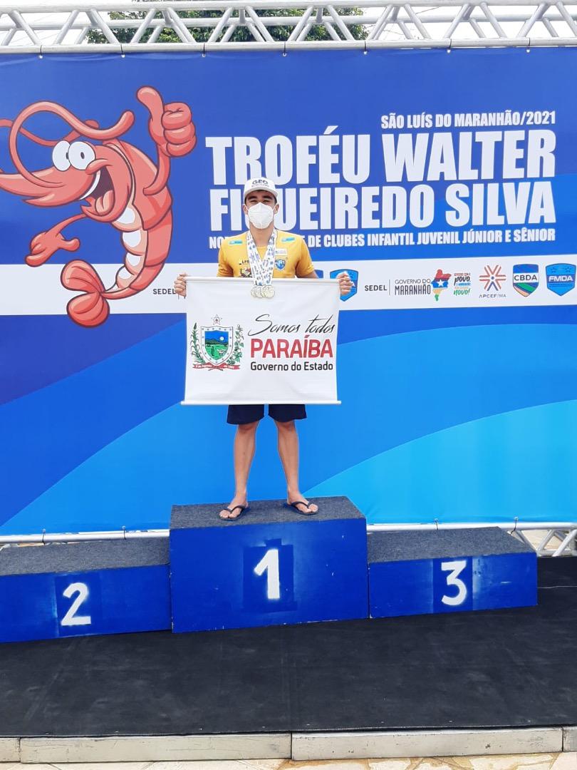 Paraibano conquista três vitórias no Torneio Norte Nordeste de Natação no Maranhão