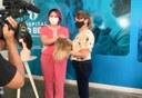 Gislane Medeiros recebeu sua nova peruca da médica Dra. Nayarah Xavier.jpg