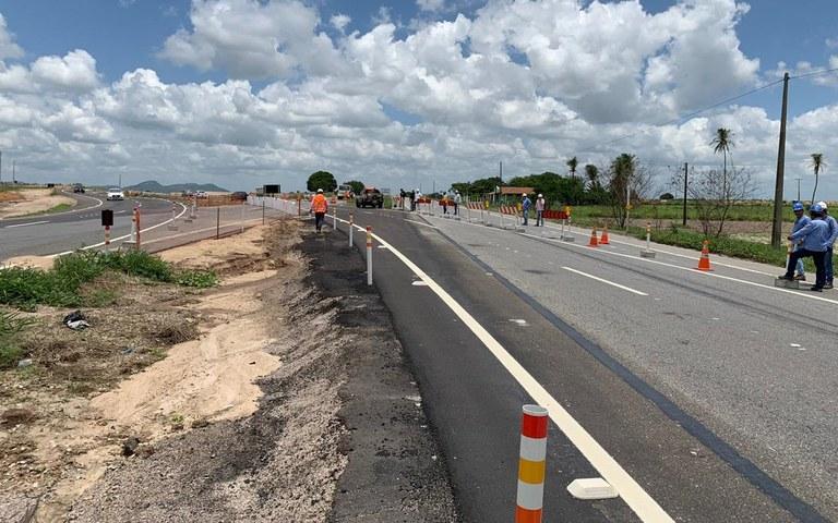 liberada segunda alca do desvio da BR 230 para obras do canal acauaa aracagia (3).jpg
