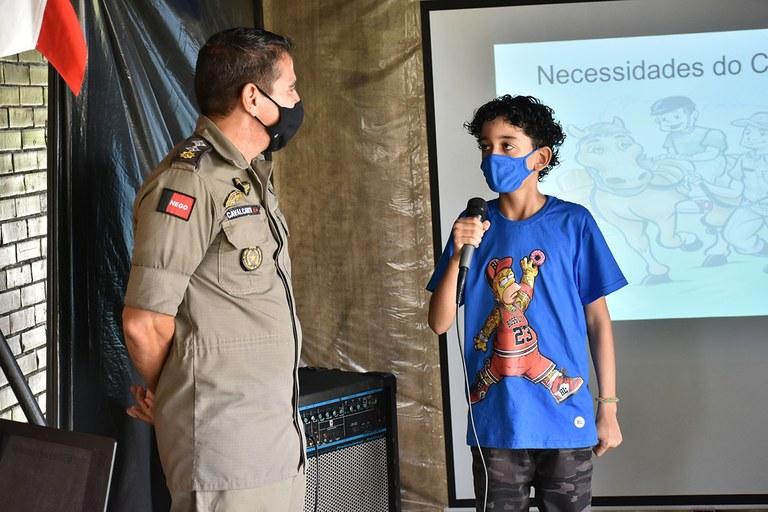 15.07.2021 Visita da Primeira-dama ao Centro de Equoterapia da Polícia Militar (10).JPG