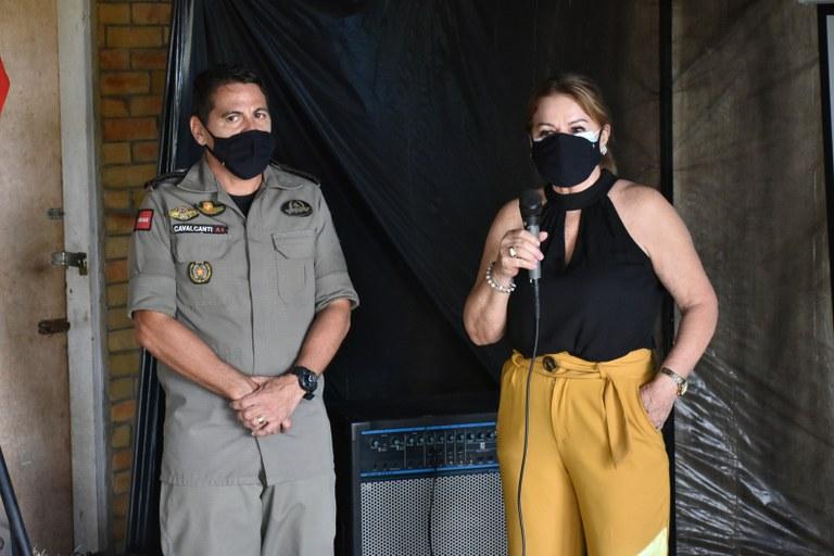 15.07.2021 Visita da Primeira-dama ao Centro de Equoterapia da Polícia Militar (13).JPG
